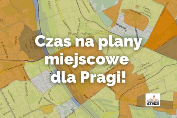 Czas na plany miejscowe dla Pragi!