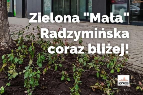 """Zielona """"Mała"""" Radzymińska coraz bliżej"""