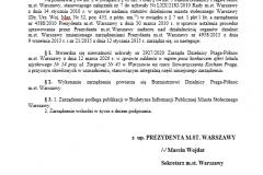 3. Zarządzenie Prezydenta z 10.04.2020 uchylające Uchwałę Zarządu z 12.03.2020.