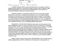 7. Skan wniosku Jacka Wachowicza szefa KP z 2.06.2020 dot. najmu lokalu przy Targowej 32.