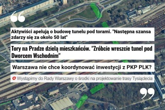 Media o wspólnej konferencji Porozumienia dla Pragi, Miasto Jest Nasze i Stowarzyszenia Wiatrak ws. ulicy Tysiąclecia